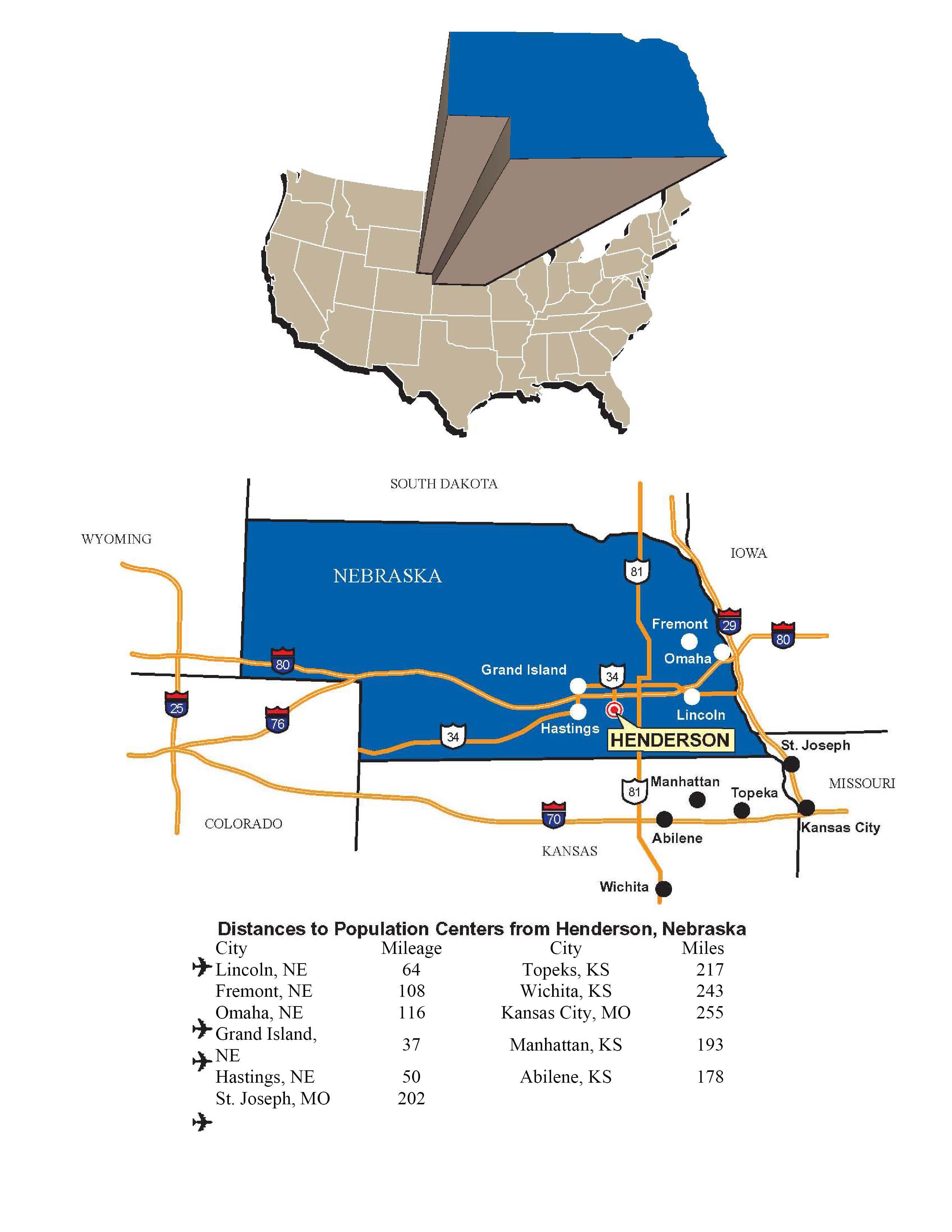 getting around - where are we? - henderson, nebraska