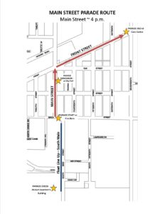 The Main Street Parade will be heading down Main Street starting at 4 pm on Saturday.  Spectators are encouraged to find a seat in the shade along Main Street and Front Street.  Entries will be announced by KTMX Max Country in front of City Hall.